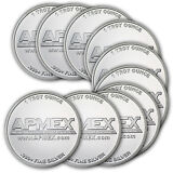 1 oz APMEX Silver Round .999 Fine (Lot of 10) - SKU# 74752