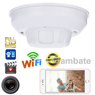 Mini 1080P Hd Spy Dvr Hidden Ip Camera Smoke Detector Motion Detection Nanny Cam