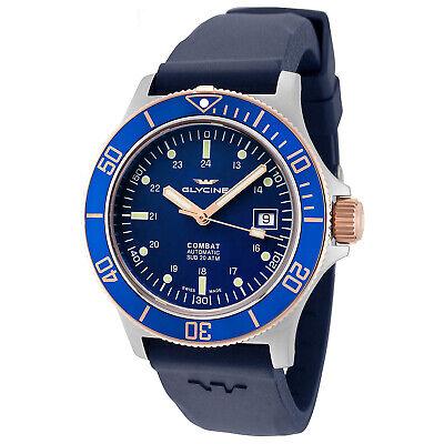 Glycine Men's 3908.383.B6.D8D Combat Sub Automatic 42mm Blue Dial - GL0089