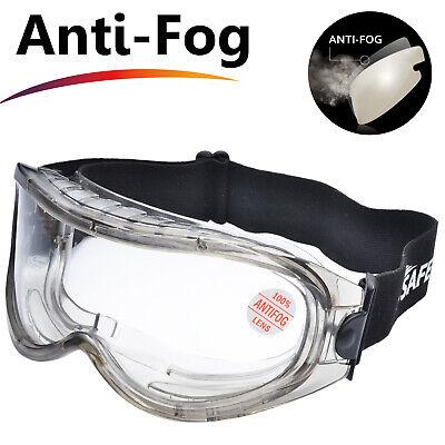 Safeyear Safety Goggles Over Glasses Lab Anti Scratch Seal Eye Anti Fog Z87 Ebay