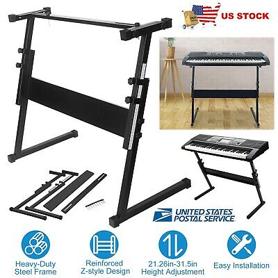 Electronic Piano Keyboard Stand Z-Style Music Rack Adjustable Heavy Duty