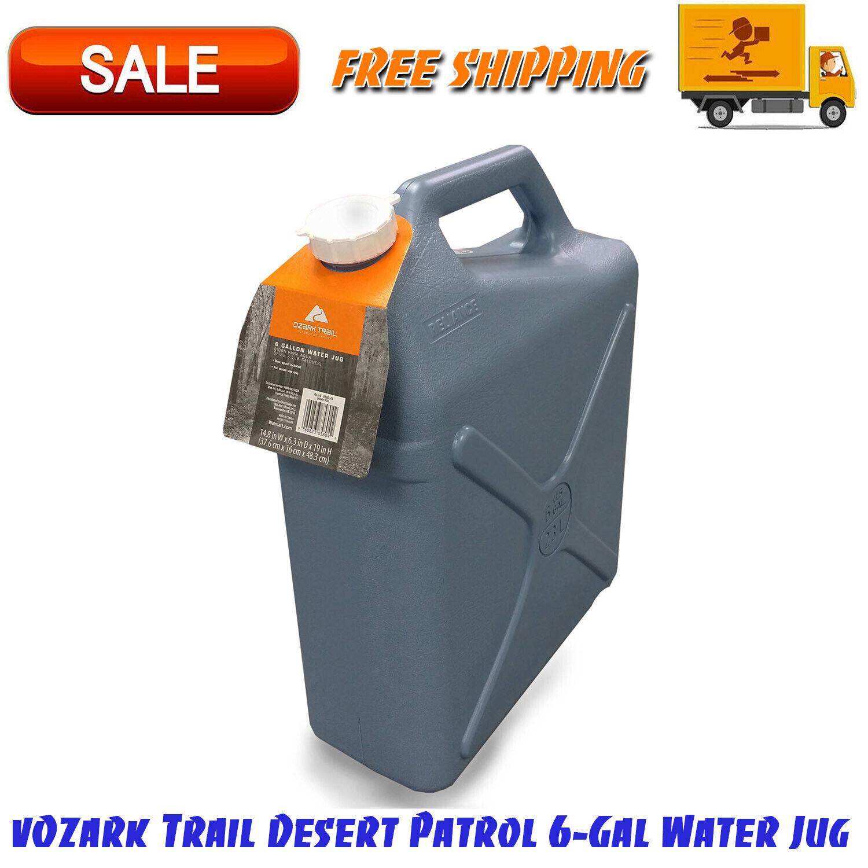 Ozark Trail Desert Patrol 6-Gal Water Jug, Heavy-Duty Plasti