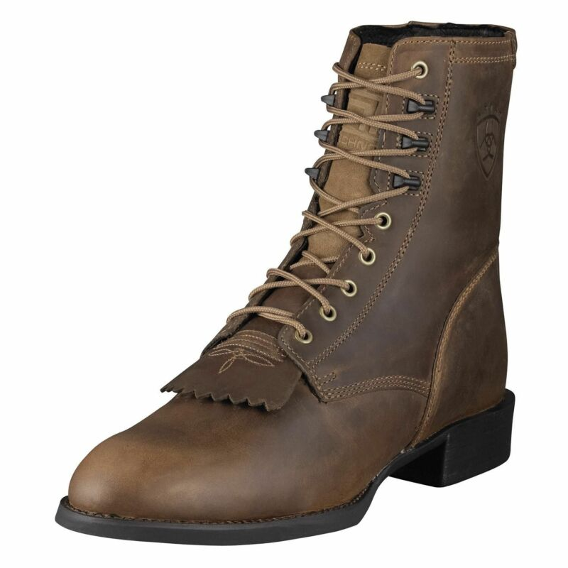 Ariat, Mens, Heritage, Lace, Up, Roper, Cowboy, Boot, Lacer, Distressed, 10001988, 32525