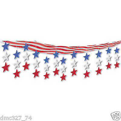 4th Of July Party Decor (4th of July PATRIOTIC Party Hanging CEILING Cover Decoration Decor STAR STRIPES )