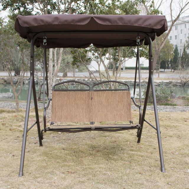 Outdoor Canopy Swing Glider Hammock Patio Furniture Romantic 2 Person Love  Seat