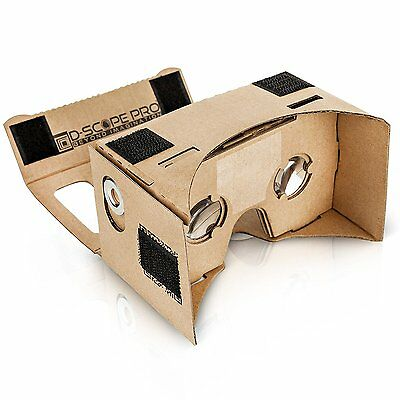 *NEW* D-scope Pro Google Cardboard Kit with Straps 3D Virtual Reality *NICE*