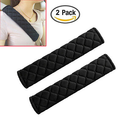2pcs Car Safety Seat Belt Shoulder Pads Cover Cushion Harness Comfortable Pad Car Seat Belt Cover Pad