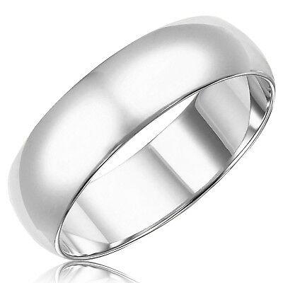 Sterling Silver 925 Classic Plain Wedding Band Promise Ring | 7MM FREE ENGRAVING