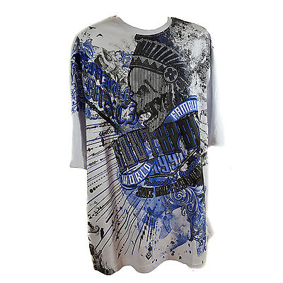SOUTHPOLE MEN'S BIG AND TALL WHITE GRAPHIC T-SHIRT STYLE 17321-1031 (3XB - 5XB) Big And Tall White T-shirt