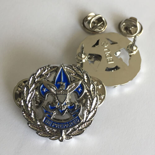 Scout / Council Commissioner Badge, One Pair (2) (Service Badge Scouter Boy Pin)