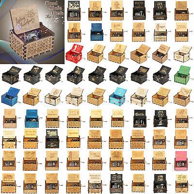 Retro Vintage Wooden Music Box Hand Clockwork Music Box You are My Sunshine US
