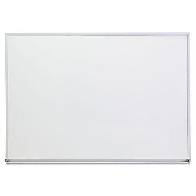 UNIVERSAL Dry Erase Board Melamine 48 x 36 Satin-Finished Aluminum Frame 43624