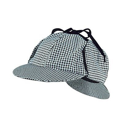 Sherlock Holmes Kappe Detektive Hut Arzt Kostüm Deerstalker - Sherlock Holmes Hut Kostüm