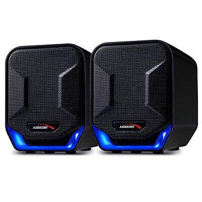Kompakt Mini Stereo Lautsprecher für Computer PC Laptop Desktop Boxen USB AUX Mini Laptop Lautsprecher