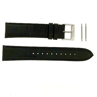 SEIKO Leather Strap Brown Black 20mm Factory Original Watch Band  spring bars