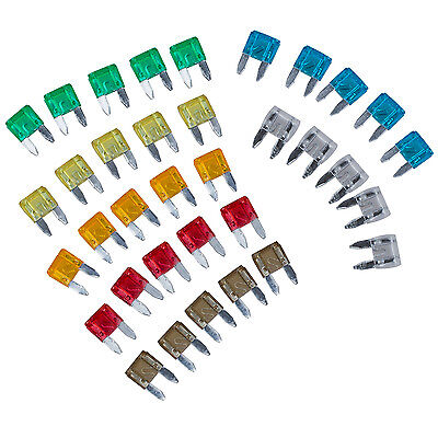 35 Piece MIXED Mini Blade Fuse AUTO Car 5 7.5 10 15 20 25 30 AMP LW
