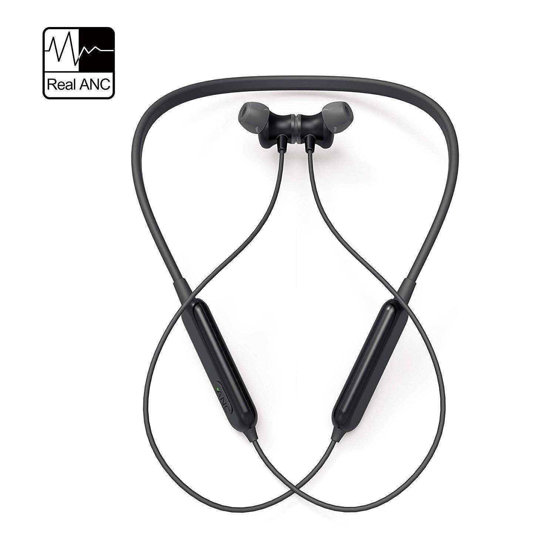 Active Noise Cancelling Headphones Wireless Neckband Headset