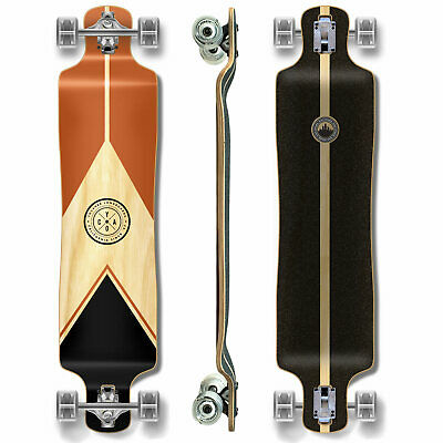 YOCAHER Lowrider Longboard Complete - Earth Series - Mountain (GCLR122)