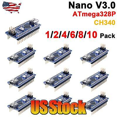 Mini USB Nano V3.0 ATmega328 16M 5V Micro-controller CH340G board For Arduino US