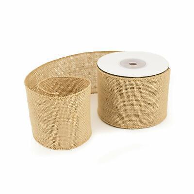 3 In Natural Rustic Burlap Ribbon Spool Jute Vintage Trimming DIY Craft 10 Yards