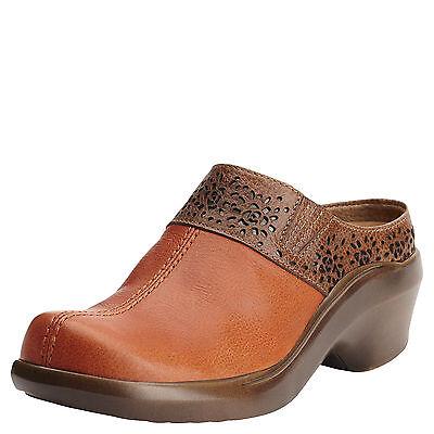 New Womens Ariat 10015238 Santa Cruz Mule Clementine Leather Clog (Leather Womens Clog)