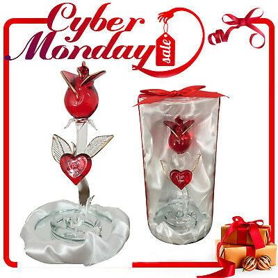 Crystal Standing Rose for Gift Box Best for Valentine's Day, Mothers day