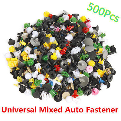 500*Car Door Panel Trim Fender Bumper Fastener Rivet Retainer Push Pin Clips Mix