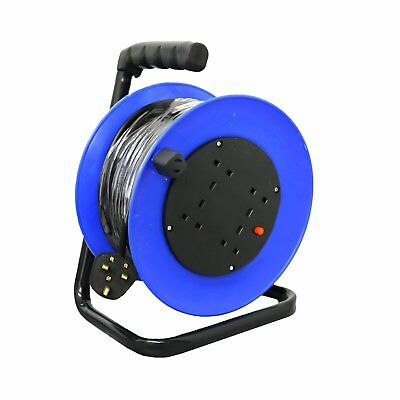 NEW! 230V 25m 13A 4 Way Gang Socket Extension Cable Reel Electrical Lead