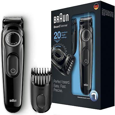 Braun BT3022 Beard/Hair Cordless Rechargeable Trimmer Shaver