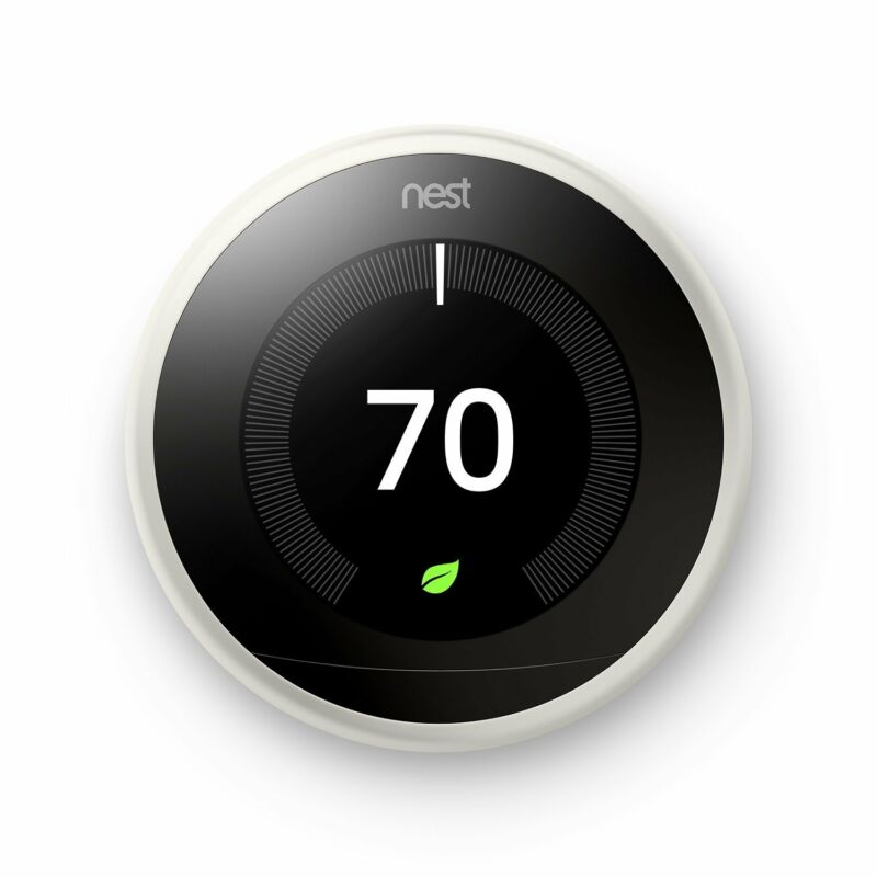Google Nest 3rd Generation Learning Thermostat (White) T3017US