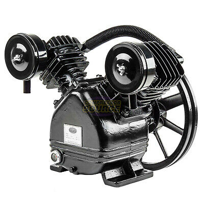 2 - 3 Hp Replacement Air Compressor Pump Single Stage Two Cylinder 7 Cfm