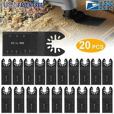 20pcs Oscillating Saw Blade For Feinridgidmakita Milwaukee Multi Tool Metal