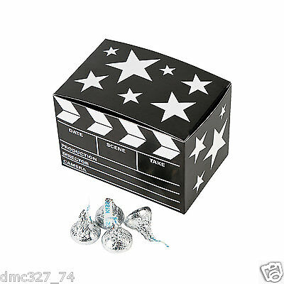 12 HOLLYWOOD Movie Awards Night Party Favor MINI CLAPBOARD GOODY TREAT BOXES