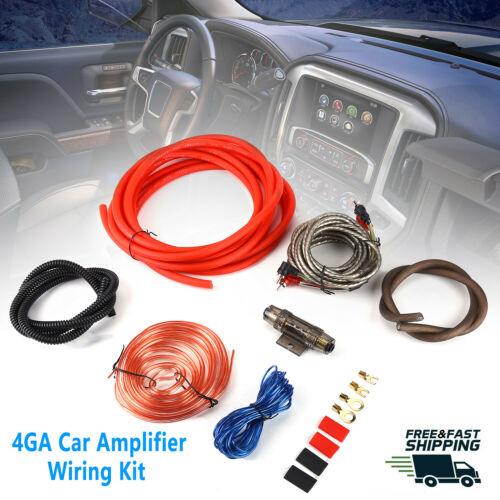 Car Audio 4 Gauge Cable Kit Amp Amplifier Install RCA Subwoofer Sub Wiring USA