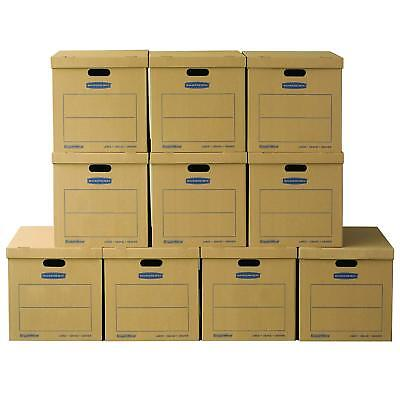 Large Classic Moving Boxes 10 Pack 21x17x17 Strong 32 Ect B-flute Kraft Board