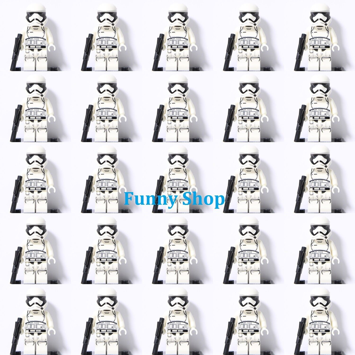 Rounded Mouth Pattern Fits Lego 25pcs Star Wars First Order Stormtrooper