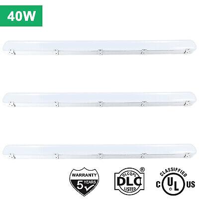 3pack 4ft 40w Led Water Vapor Tight Light Fixture 5000k Outdoor Shop Light Ip68