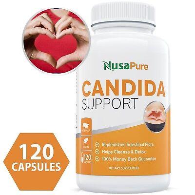 Nusapure Candida Cleanse  Non Gmo  120 Caps  Yeast Infection Treatment