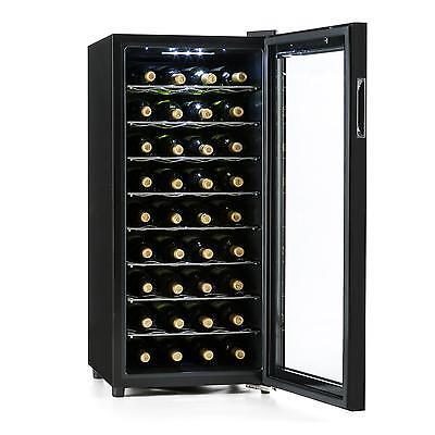 Weinkühlschrank Getränkekühlschrank Weinklimaschrank Glas 36 Flaschen EEK C