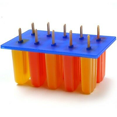 Norpro Ice Pop Maker Popsicle Molds Frozen Treat for Kids with 24 Wooden Sticks