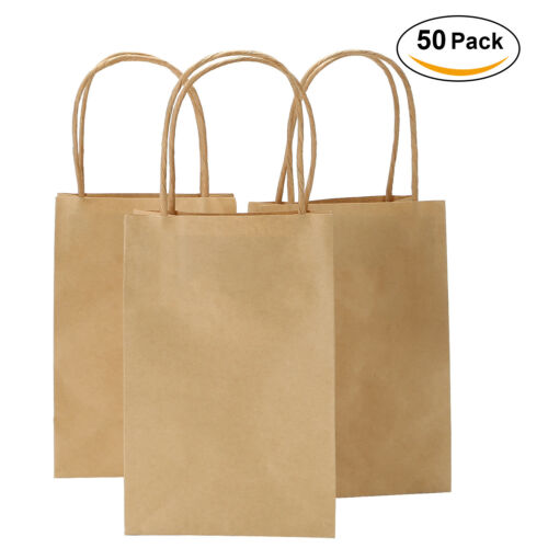 Shopping Gift Bags Party Supply Custom Kraft Paper Bags with