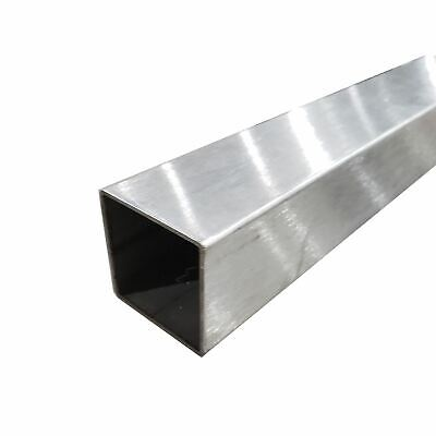 304 Stainless Steel Square Tube 58 X 58 X 0.049 X 36 Long Polished