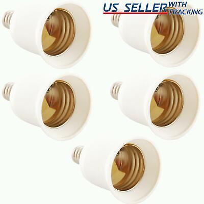 5x Light Bulb Socket Adapter Candelabra E12 to Medium Base E26 Screw Enlarger