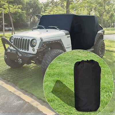 Black Cab Cover Black Car Covers for Jeep Wrangler JK JKU JL JL 4 Door 2007-2021