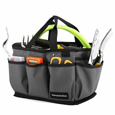 Housolution Gardening Tote Bag, Deluxe Garden Tool Storage Bag and Home Organize