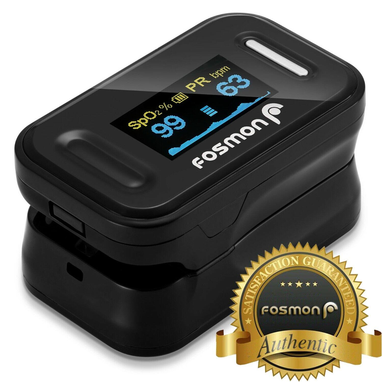 Fosmon Finger Pulse Oximeter Blood Oxygen SpO2 Monitor PR Sa
