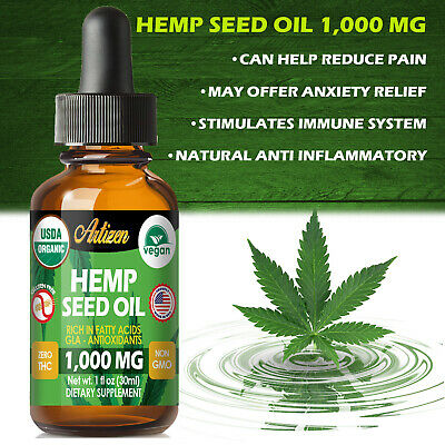 Best Hemp Oil Extract for Pain Relief, Stress, Sleep (PURE & ORGANIC) – 1000 mg