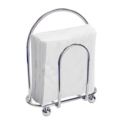 Wire Napkin Holder Home Basics Chrome Dining Room Kitchen Home & Garden