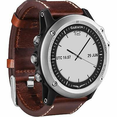Garmin D2 Bravo Aviator GPS Enabled Watch with Brown Leather Band 010-01338-31