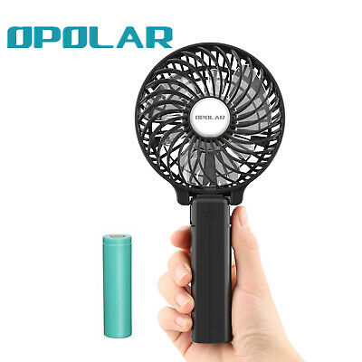 OPOLAR Hand Held 2200mAh Battery Fan - Operated, Rechargeable, Portable Fan